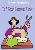 Garment Worker - Greeting Card
